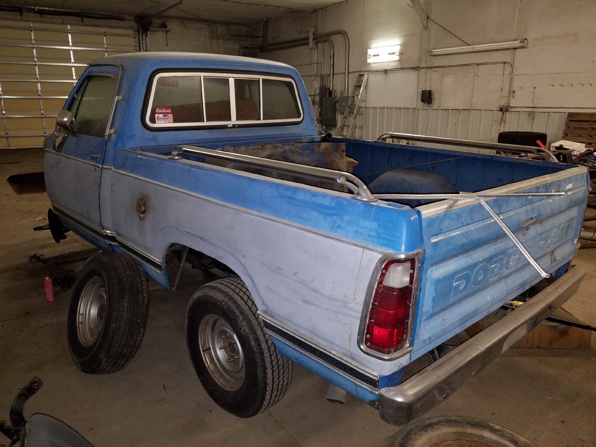 Pw Rearleft on 1977 Dodge Power Wagon Blue